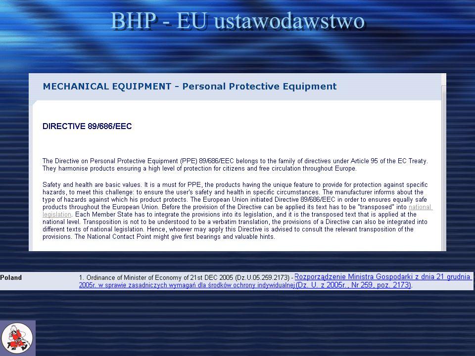 BHP - EU ustawodawstwo