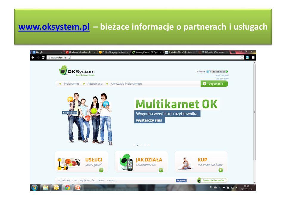 www.oksystem.plwww.oksystem.pl – bieżace informacje o partnerach i usługach www.oksystem.plwww.oksystem.pl – bieżace informacje o partnerach i usługac