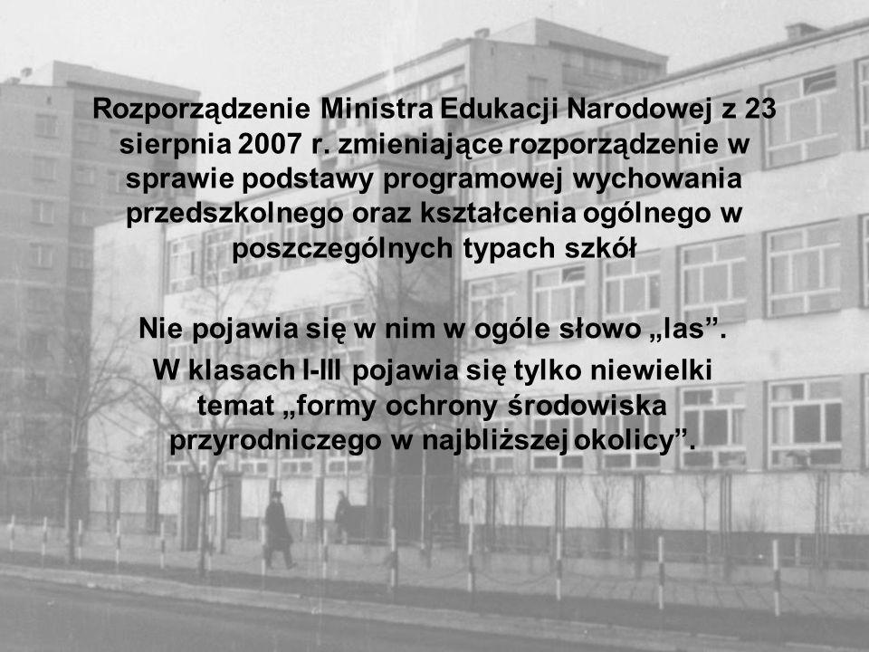 Rozporządzenie Ministra Edukacji Narodowej z 23 sierpnia 2007 r. zmieniające rozporządzenie w sprawie podstawy programowej wychowania przedszkolnego o
