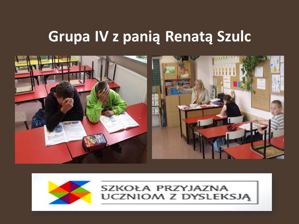Grupa IV z panią Renatą Szulc