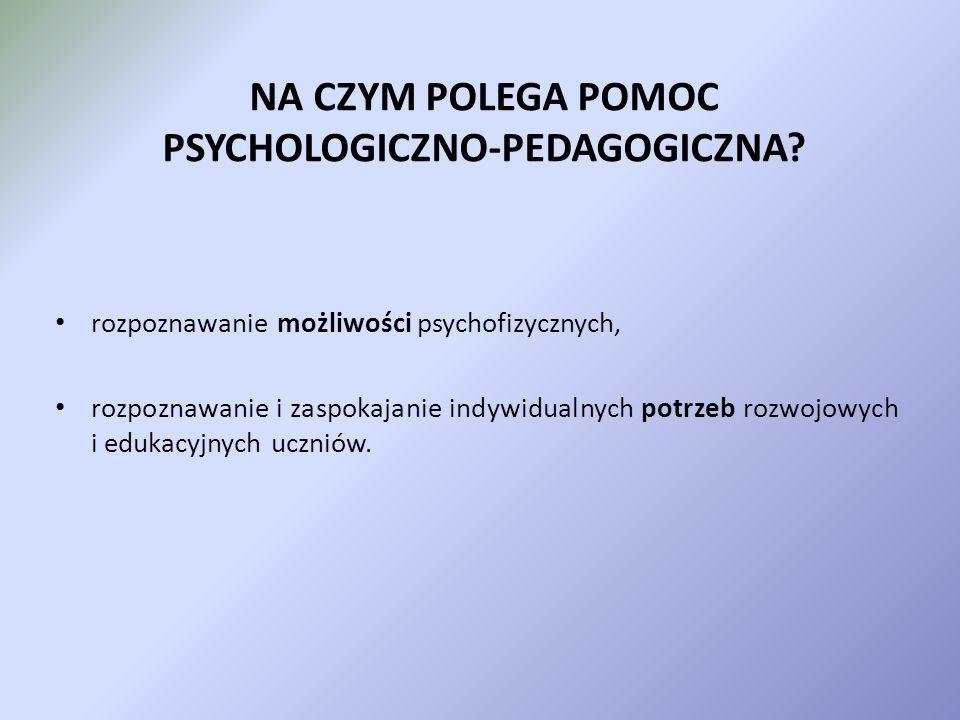 U DZIELENIE P OMOCY PSYCHOLOGICZNO – PEDAGOGICZNEJ W ŚWIETLE NOWEGO ROZPORZĄDZENIA MEN