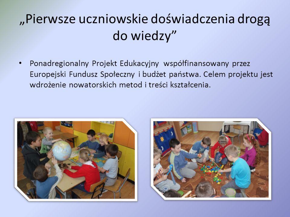 Współczesny nauczyciel kompetentny i wszechstronny Projekt współfinansowany przez Unię Europejską w ramach Europejskiego Funduszu Społecznego.
