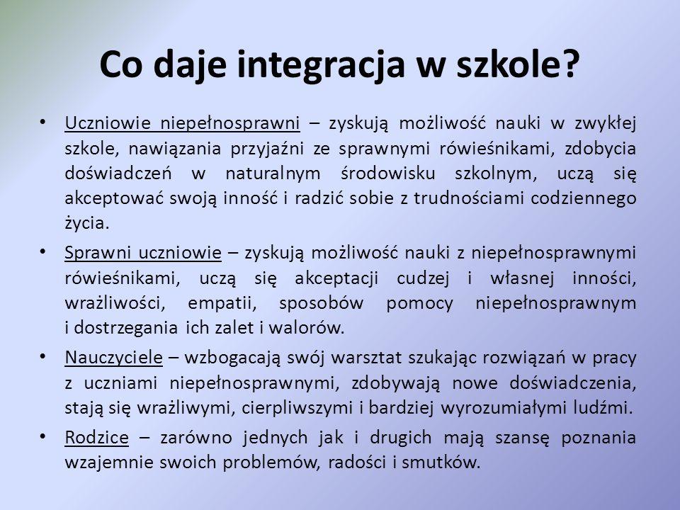 Co daje integracja w szkole.