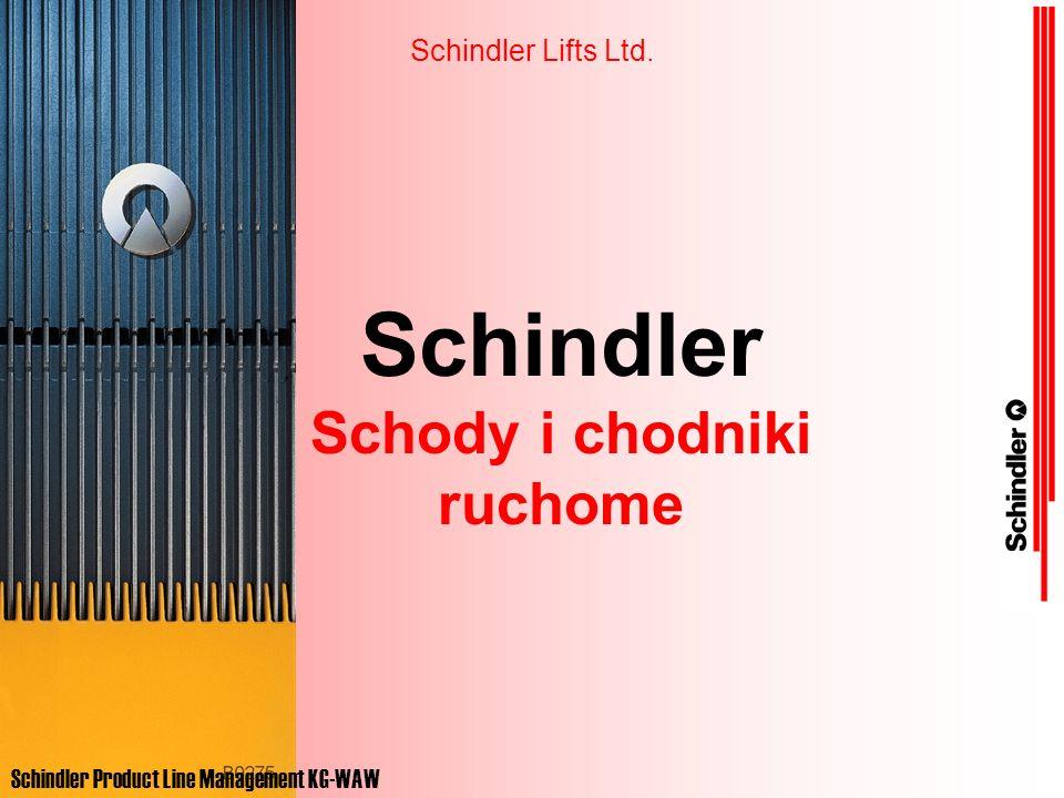 Program 9000 Firma Schindler zajmuje pierwsze miejsce na świecie pod względem liczby sprzedanych schodów i chodników ruchomych.