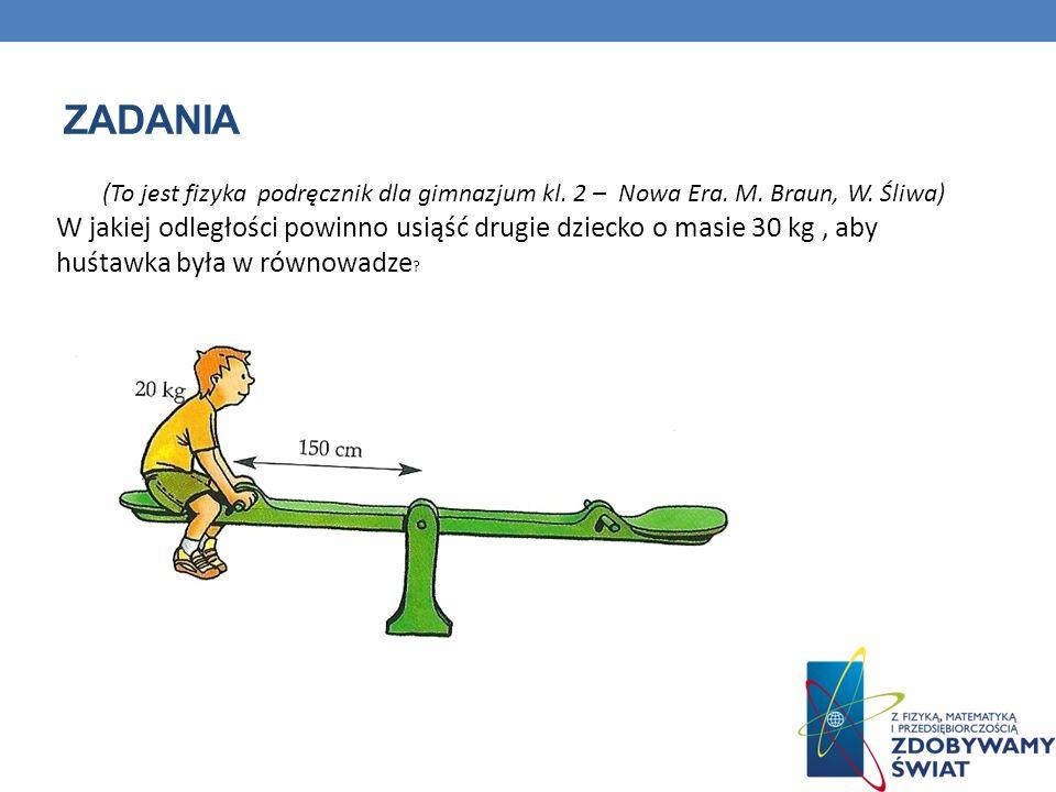 ZADANIA (To jest fizyka podręcznik dla gimnazjum kl.