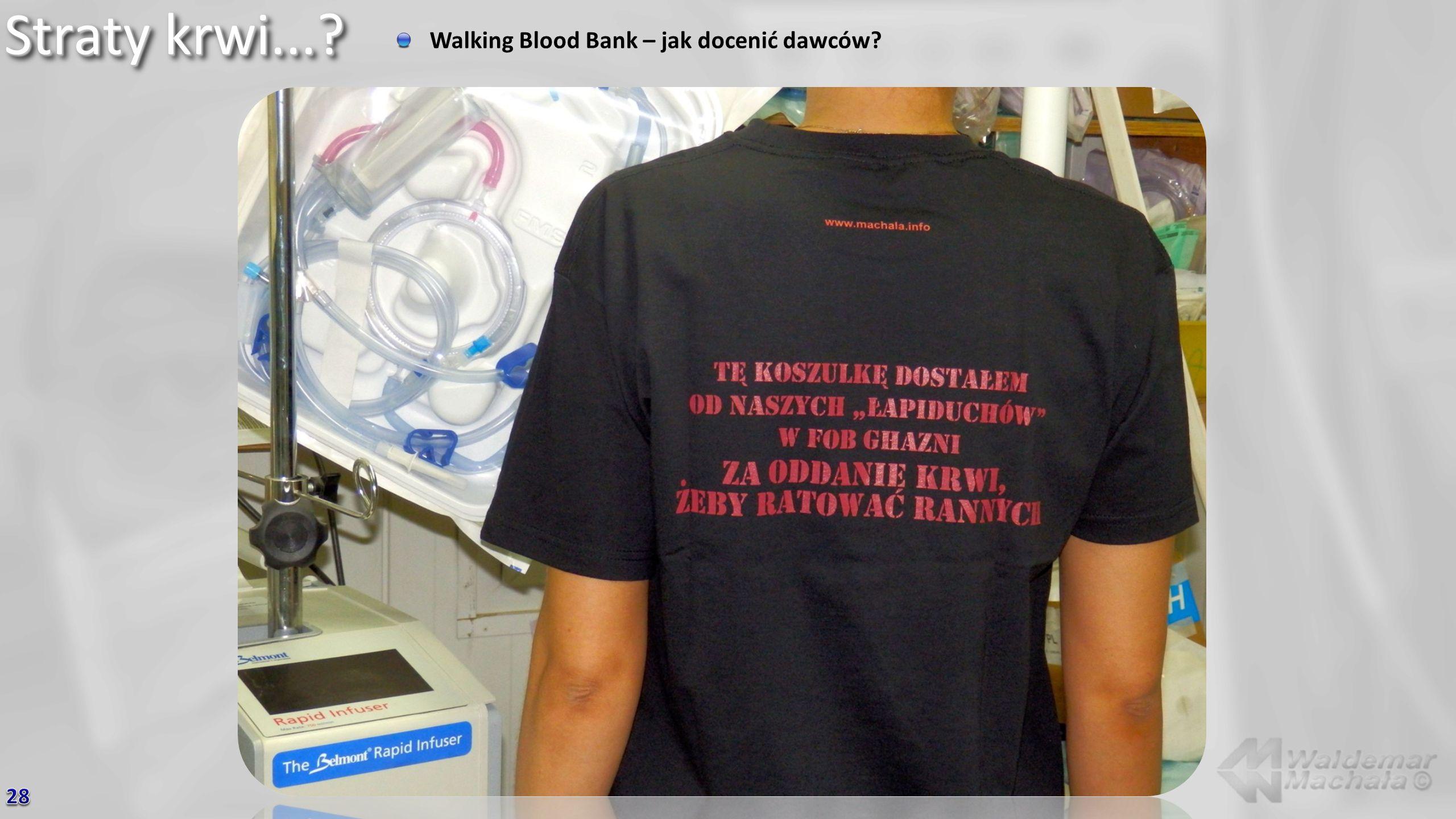 Straty krwi...? Walking Blood Bank – jak docenić dawców?