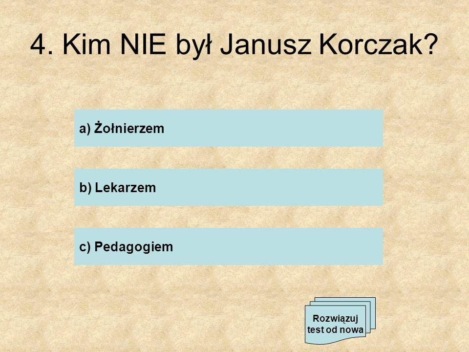 6. Z ilu punktów składa się Prośba Dziecka J.Korczaka? a) 20 b) 50 c) 10 Rozwiązuj test od nowa