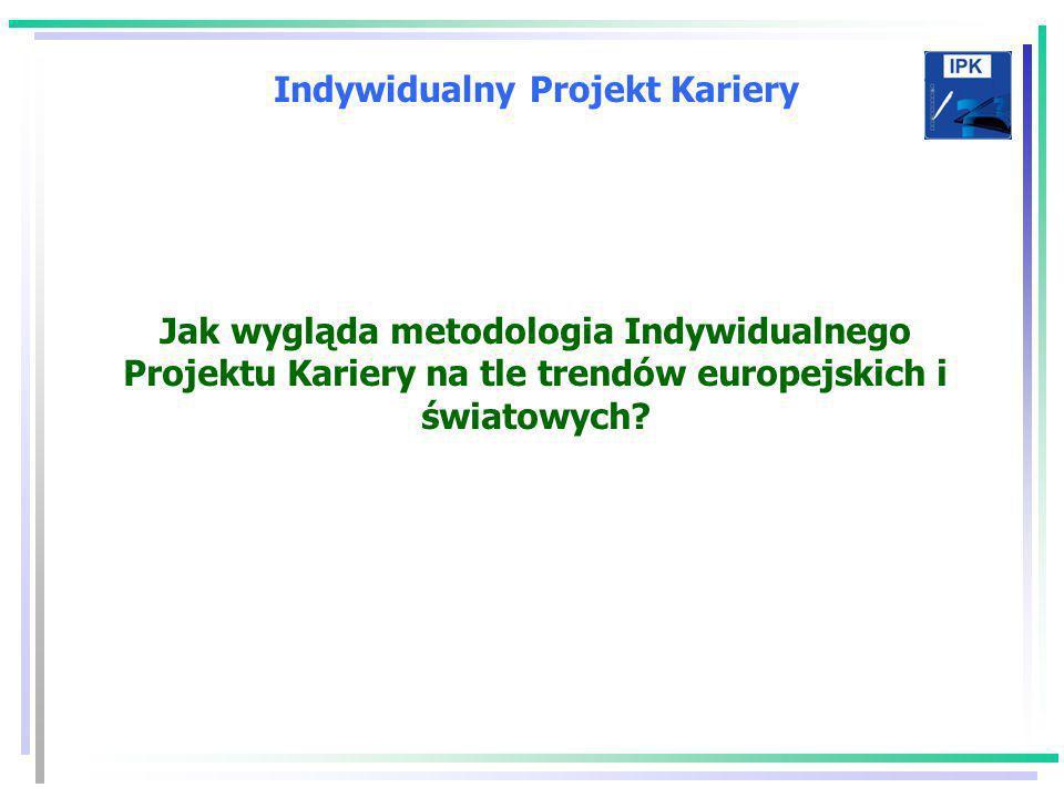 Indywidualny Projekt Kariery Jak wygląda metodologia Indywidualnego Projektu Kariery na tle trendów europejskich i światowych?