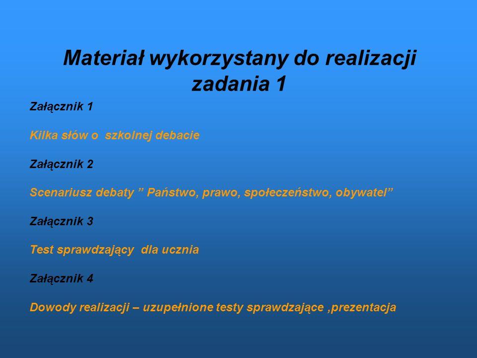 Adresaci: Uczniowie Zespołu Szkół Zawodowych im. prof. K. Olszewskiego w Sędziszowie Młp