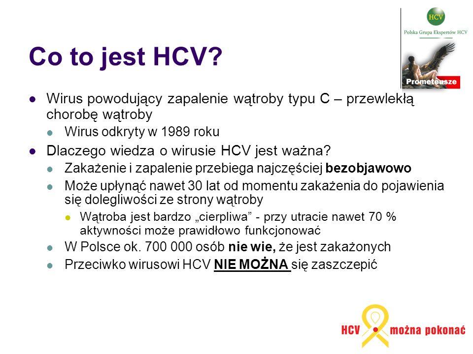 Co to jest HCV? Wirus powodujący zapalenie wątroby typu C – przewlekłą chorobę wątroby Wirus odkryty w 1989 roku Dlaczego wiedza o wirusie HCV jest wa