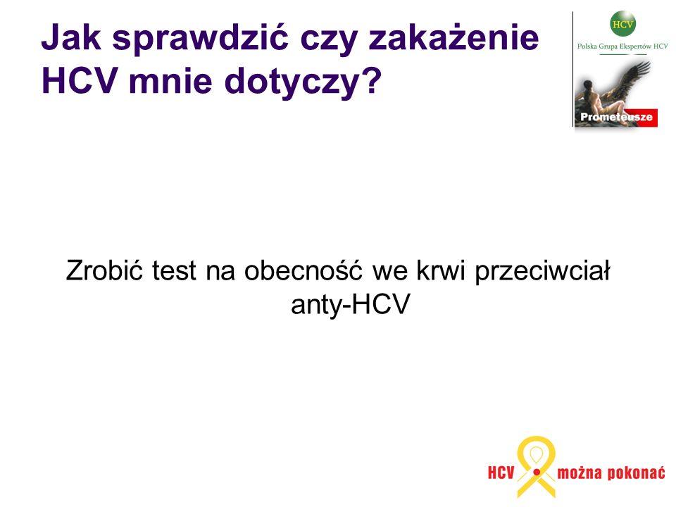 Jak sprawdzić czy zakażenie HCV mnie dotyczy? Zrobić test na obecność we krwi przeciwciał anty-HCV