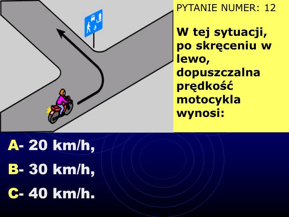 A - oznacza, że inni uczestnicy ruchu mają nadawany sygnał czerwony, B - dotyczy kierującego pojazdem skręcającego w prawo, C - umożliwia przejazd prz