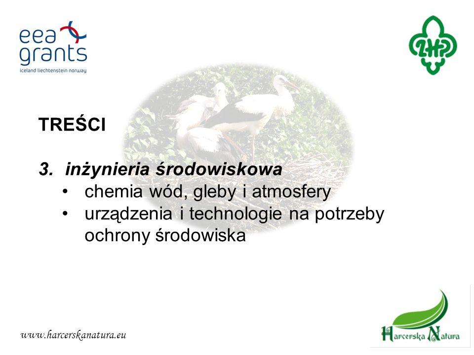 www.harcerskanatura.eu TREŚCI 3.inżynieria środowiskowa chemia wód, gleby i atmosfery urządzenia i technologie na potrzeby ochrony środowiska