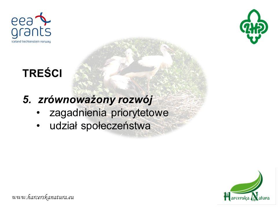 www.harcerskanatura.eu TREŚCI 5.zrównoważony rozwój zagadnienia priorytetowe udział społeczeństwa