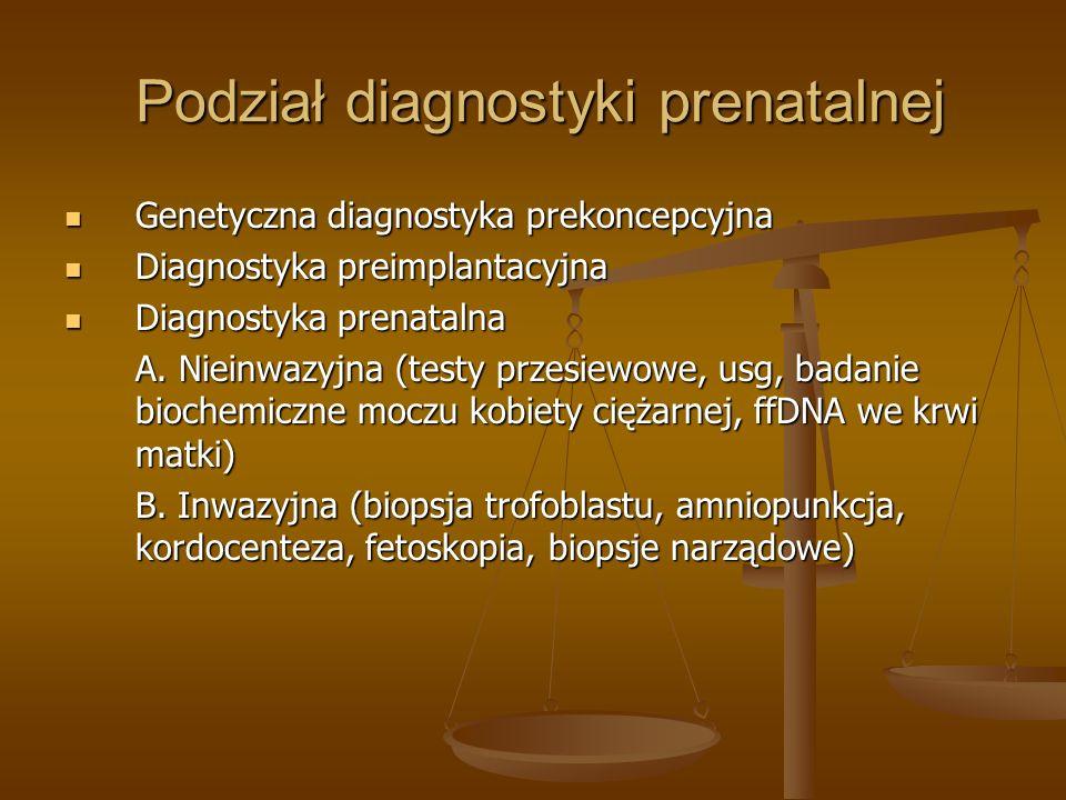 Podział diagnostyki prenatalnej Podział diagnostyki prenatalnej Genetyczna diagnostyka prekoncepcyjna Genetyczna diagnostyka prekoncepcyjna Diagnostyk