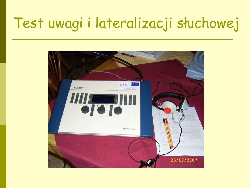 Test uwagi i lateralizacji słuchowej