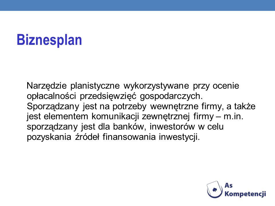 Narzędzie planistyczne wykorzystywane przy ocenie opłacalności przedsięwzięć gospodarczych.