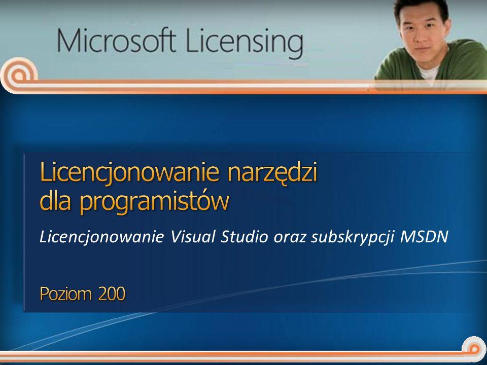 Licencjonowanie Visual Studio oraz subskrypcji MSDN