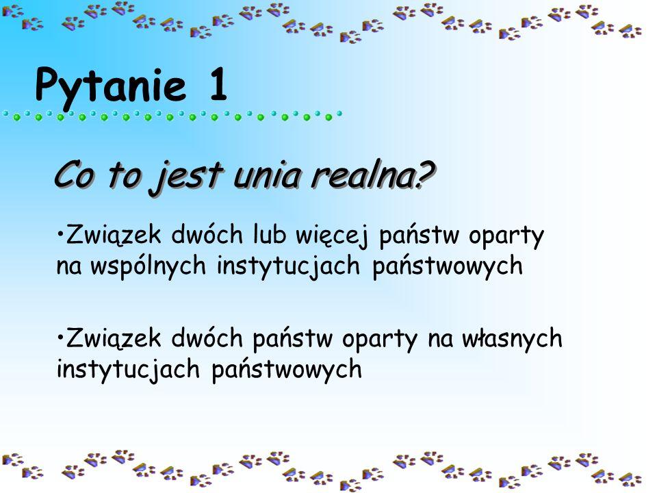 MINI-TEST O UNII REALNEJ POLSKO- LITEWSKIEJ Autor: Joanna blonska start