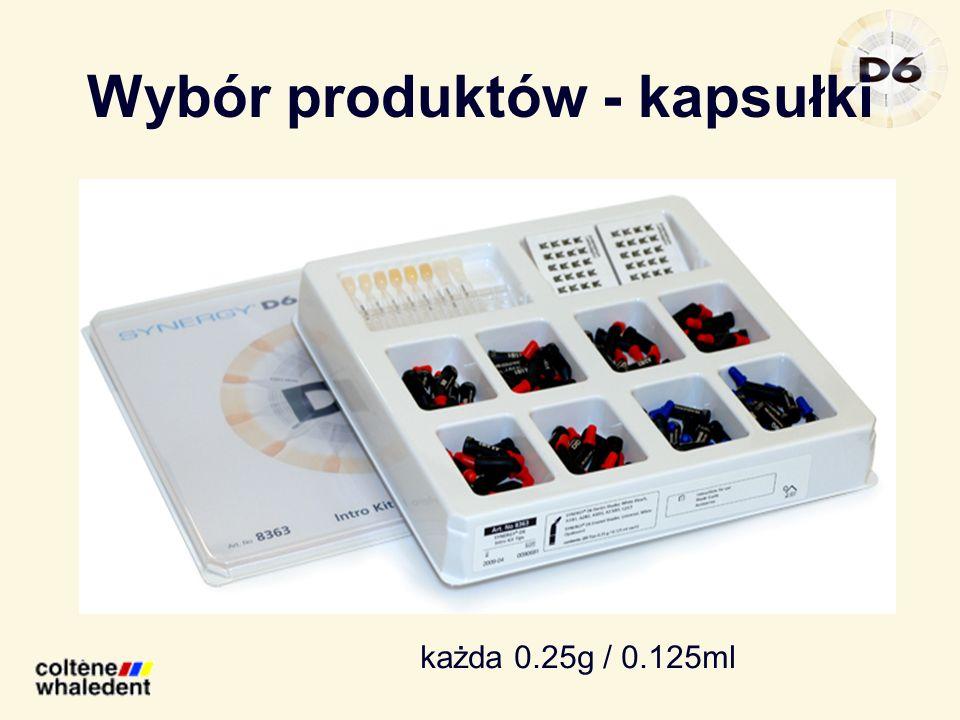 Wybór produktów - kapsułki każda 0.25g / 0.125ml