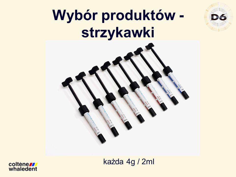 Wybór produktów - strzykawki każda 4g / 2ml