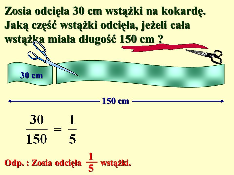 Ułamki zwykłe – zadania kl. V Anna Gadomska Szkoła Podstawowa Nr 79 Łódź