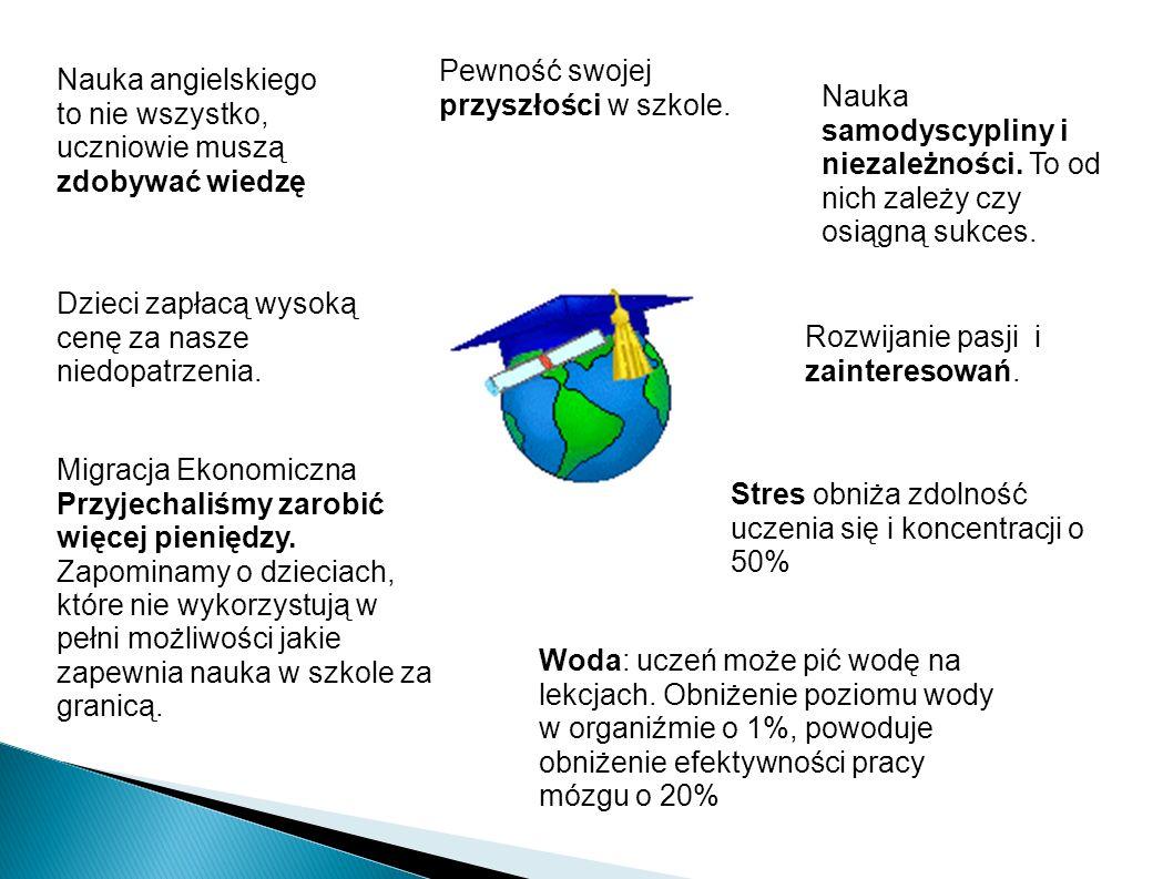 Nauka angielskiego to nie wszystko, uczniowie muszą zdobywać wiedzę Pewność swojej przyszłości w szkole.