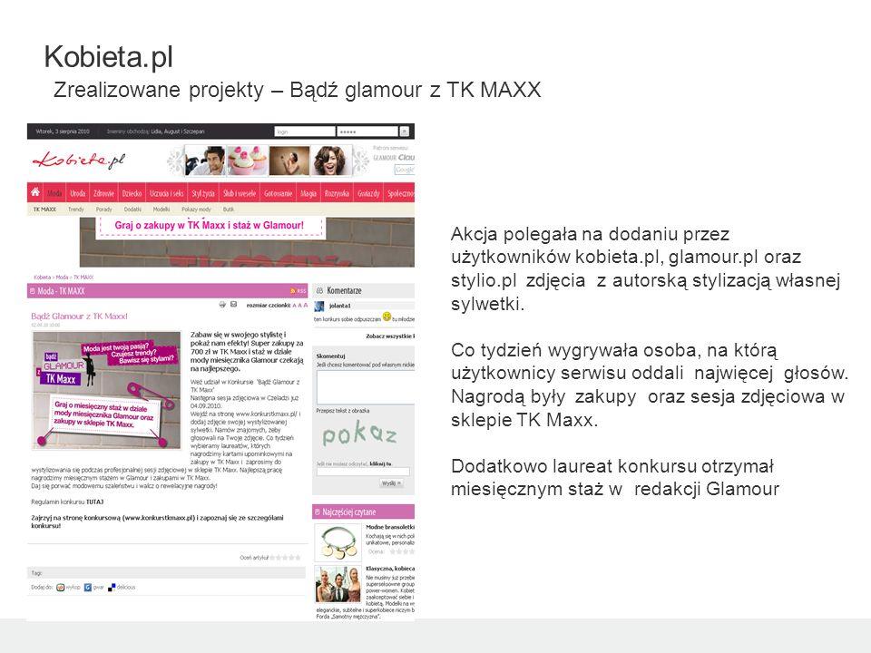 Akcja polegała na dodaniu przez użytkowników kobieta.pl, glamour.pl oraz stylio.pl zdjęcia z autorską stylizacją własnej sylwetki.