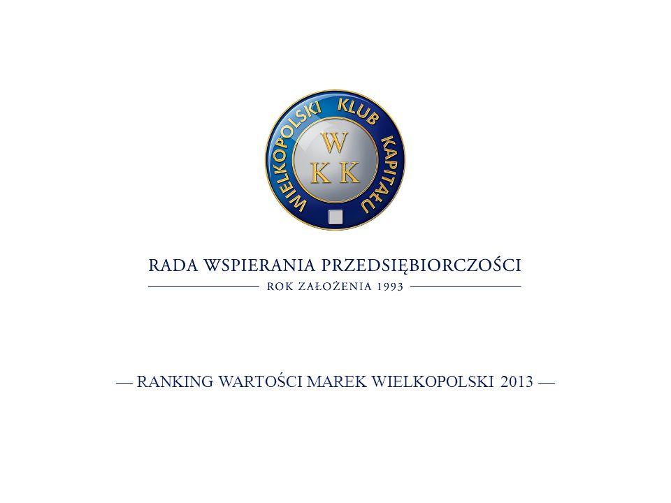 RANKING WARTOŚCI MAREK WIELKOPOLSKI 2013