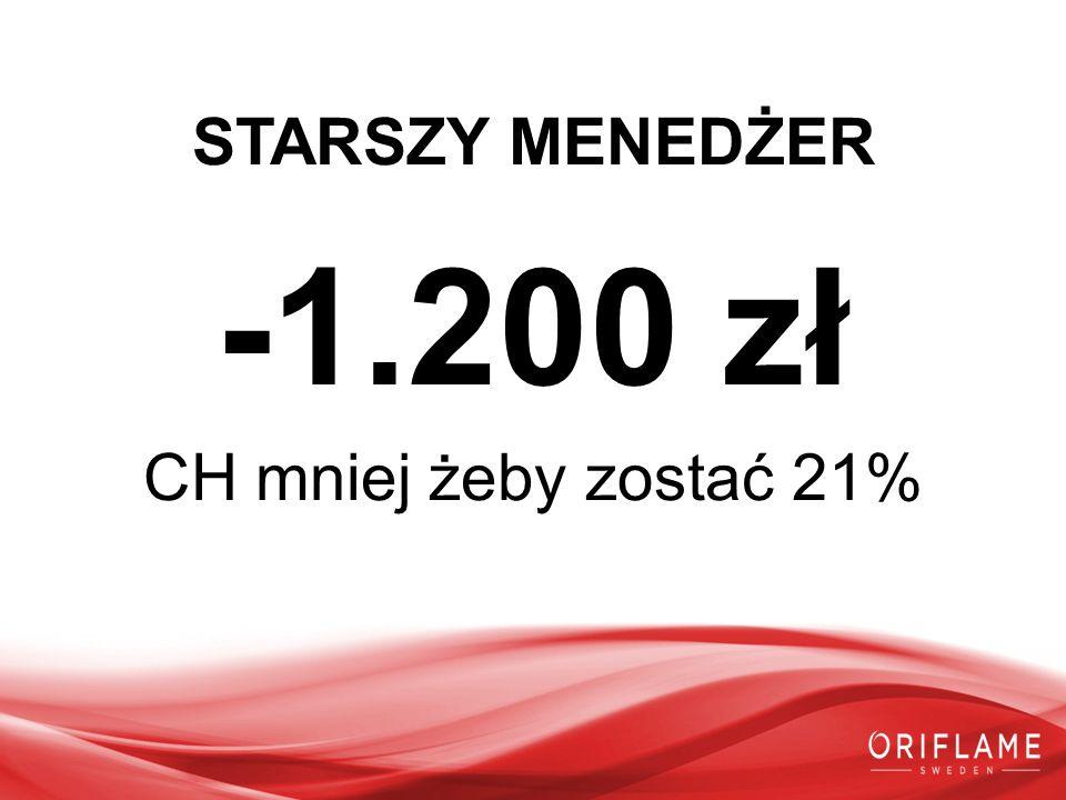 STARSZY MENEDŻER -1.200 zł CH mniej żeby zostać 21%