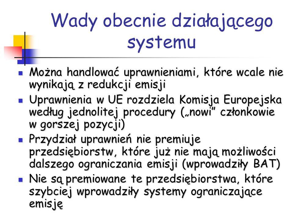 Decyzja KE w sprawie przyznania limitów 2008-2012 Limit: 208,5 mln ton (2005-2007: 239 mln ton) Deficyt – wydatki 1 030 mln euro / rok Zwiększenie kosztów Zamknięcie zakładów Wzrost bezrobocia Przeniesienie produkcji poza UE
