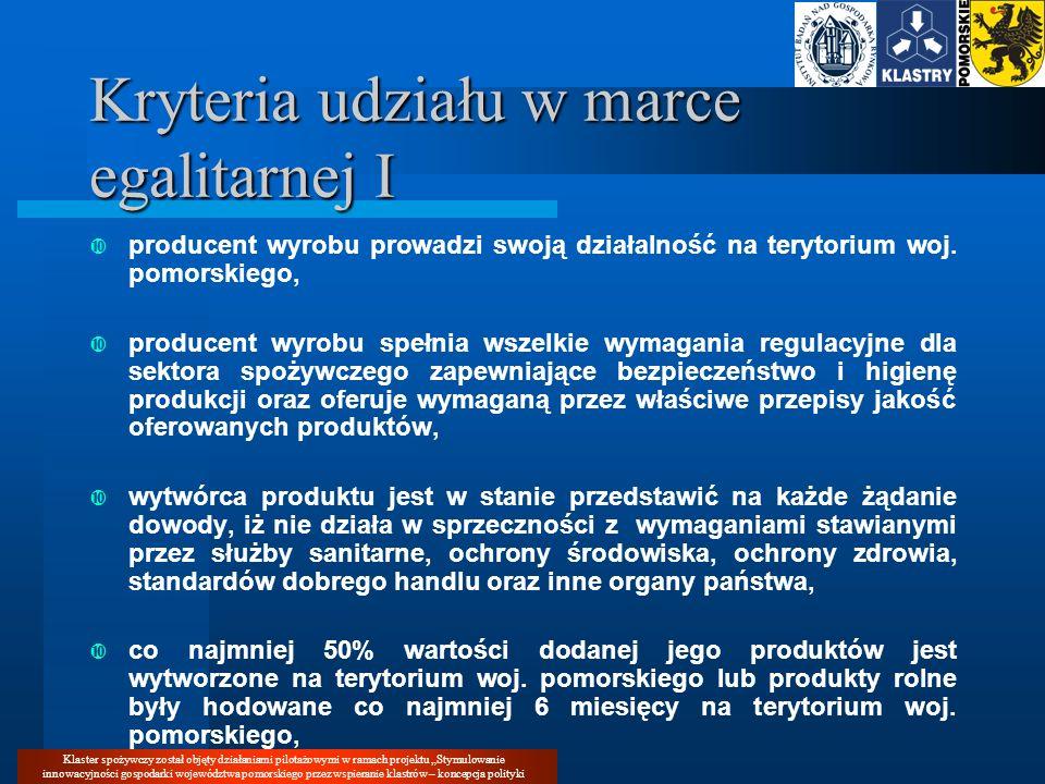 Klaster spożywczy został objęty działaniami pilotażowymi w ramach projektu Stymulowanie innowacyjności gospodarki województwa pomorskiego przez wspier