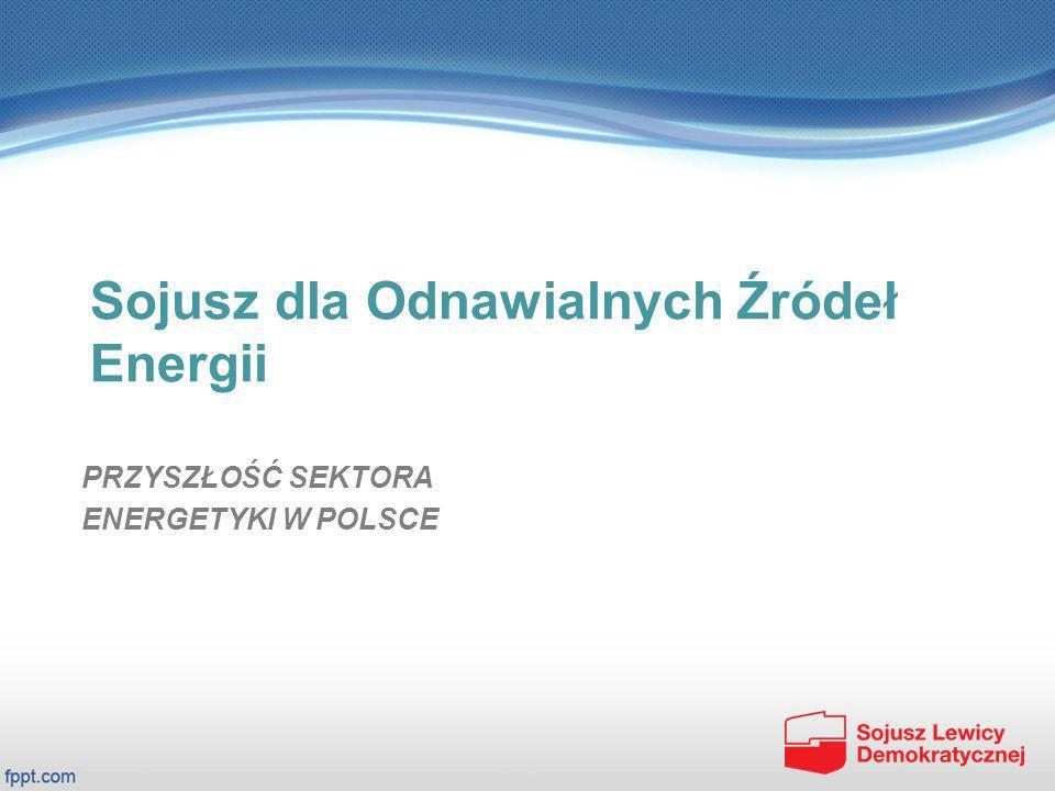 Projekt SLD – Sojusz dla OZE Złożenie projektu Ustawy SLD do laski marszałkowskiej i doprowadzenie do jej rozpatrzenia oraz uchwalenia pozwoli na osiągnięcie następujących efektów: umożliwi dalszy rozwój wszystkich dziedzin OZE w Polsce oraz energetyki rozproszonej i obywatelskiej mikro energetyki, zakończy 2-letni okres niepewności inwestycyjnej w tej dziedzinie, zarówno w odniesieniu do projektów realizowanych jak i planowanych do realizacji, umożliwi realizację celów zapisanych w Krajowym Planie Działania na rzecz energetyki odnawialnej (dokument rządowy z 2009 rok, zaakceptowany przez Komisję Europejską), pozwoli na uchronienie obywateli przed karami, które nasze państwo zmuszone będzie płacić jeżeli nie zrealizuje określonych dyrektyw UE Wokół idei OZE będziemy konsekwentnie budować sojusz we wszystkich środowiskach, począwszy od parlamentarzystów, a na środowiskach negujących tę ideę skończywszy.