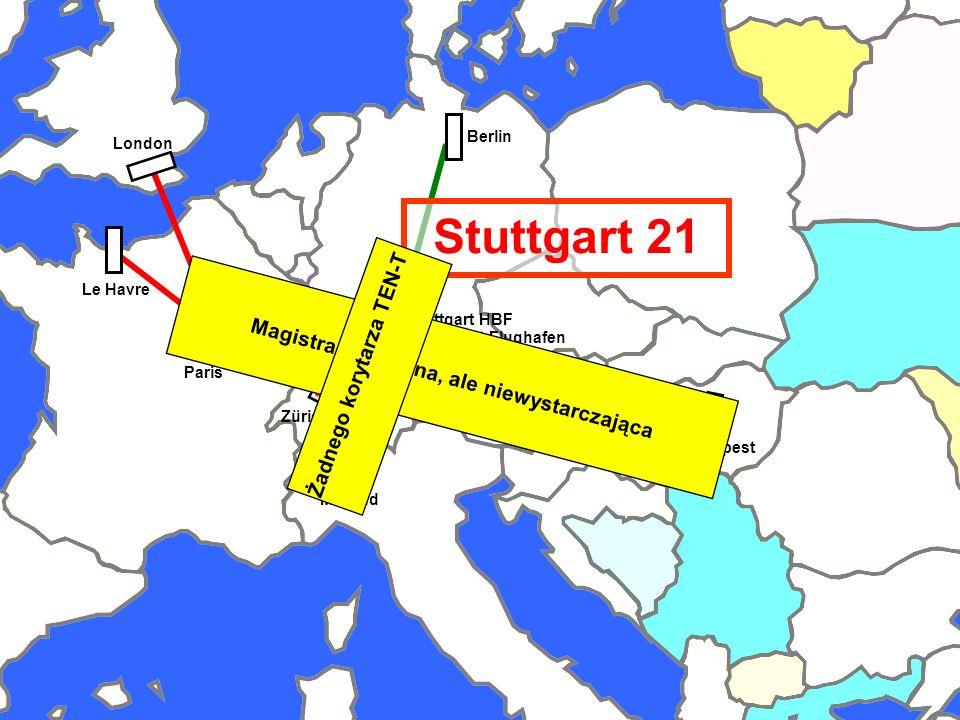 Stuttgart Region Railway Corridors Budapest Zürich Le Havre Berlin Paris London Wien Mailand Stuttgart Flughafen Stuttgart HBF Stuttgart 21 Magistrale