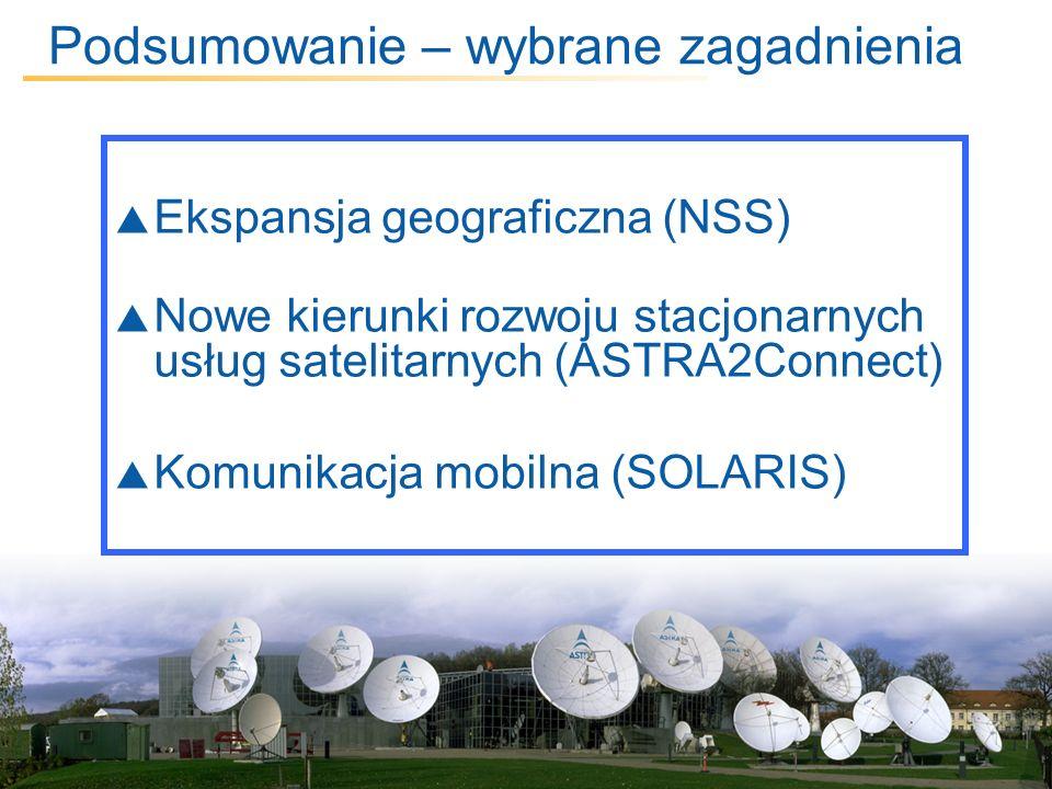 5 March, 2014 / Slide 13 Podsumowanie – wybrane zagadnienia Ekspansja geograficzna (NSS) Nowe kierunki rozwoju stacjonarnych usług satelitarnych (ASTR