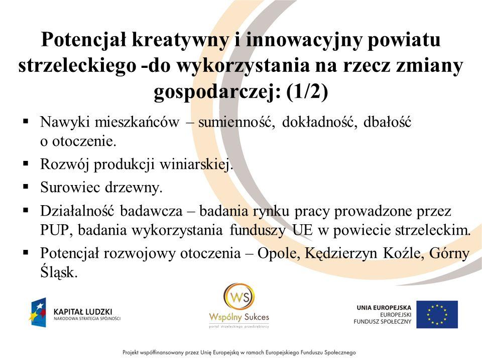 Potencjał kreatywny i innowacyjny powiatu strzeleckiego -do wykorzystania na rzecz zmiany gospodarczej: (1/2) Nawyki mieszkańców – sumienność, dokładność, dbałość o otoczenie.
