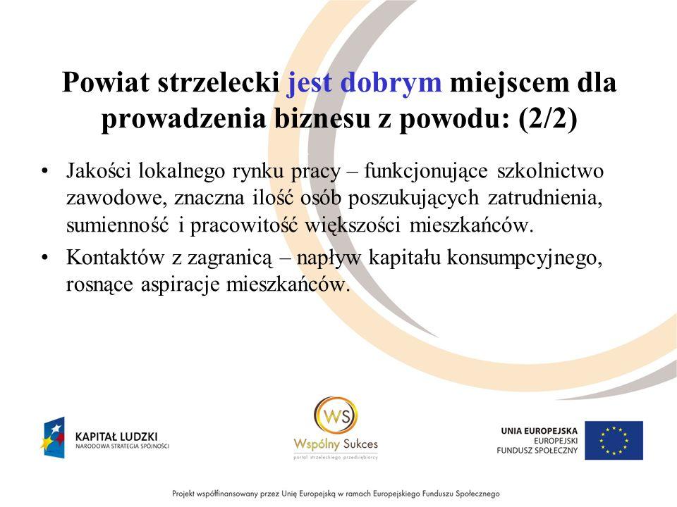 Szanse dla gospodarki powiatu strzeleckiego, jakie niesie obecny kryzys: (2/2) Wykorzystanie środków UE – poprawa infrastruktury.