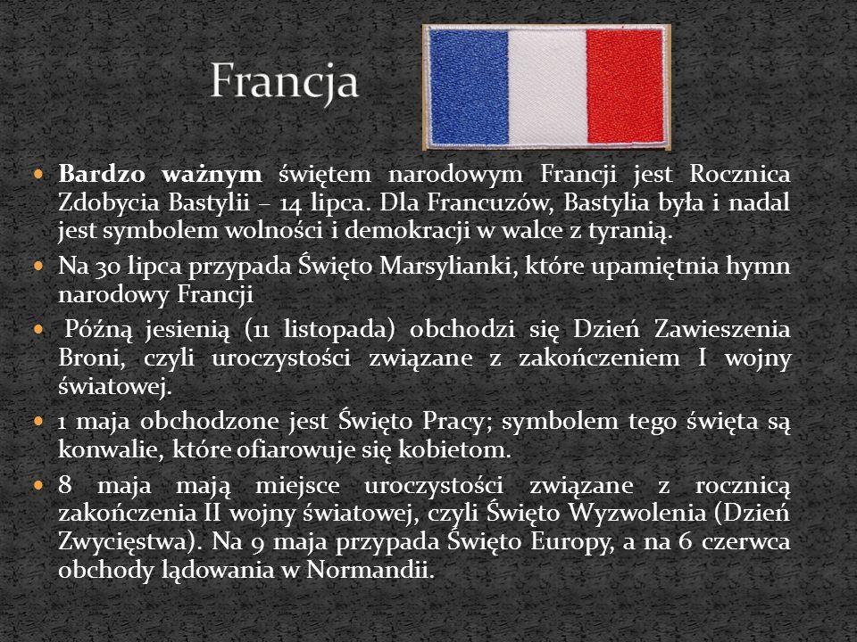 Bardzo ważnym świętem narodowym Francji jest Rocznica Zdobycia Bastylii – 14 lipca. Dla Francuzów, Bastylia była i nadal jest symbolem wolności i demo