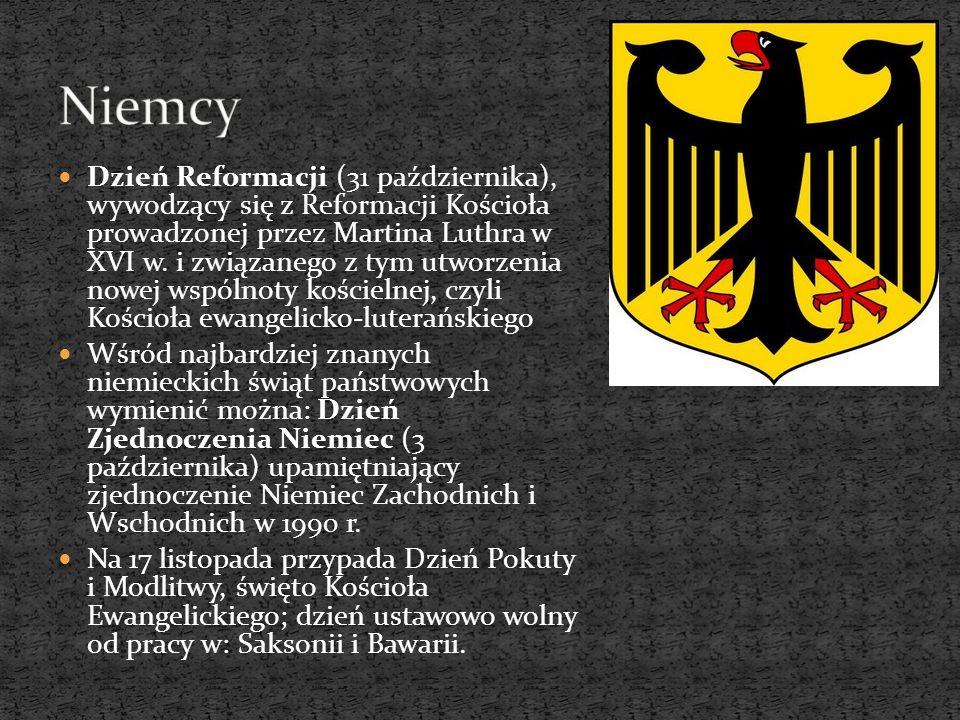 Dzień Reformacji (31 października), wywodzący się z Reformacji Kościoła prowadzonej przez Martina Luthra w XVI w. i związanego z tym utworzenia nowej
