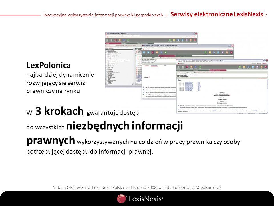 LexPolonica najbardziej dynamicznie rozwijający się serwis prawniczy na rynku W 3 krokach gwarantuje dostęp do wszystkich niezbędnych informacji prawn