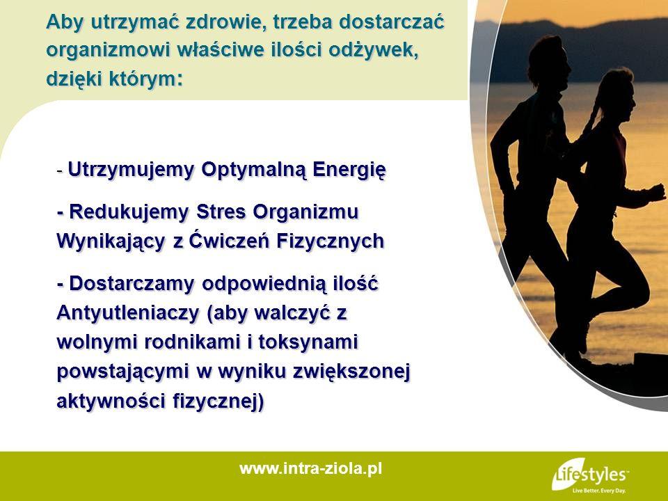 Aby utrzymać zdrowie, trzeba dostarczać organizmowi właściwe ilości odżywek, dzięki którym : - Utrzymujemy Optymalną Energię - Redukujemy Stres Organi