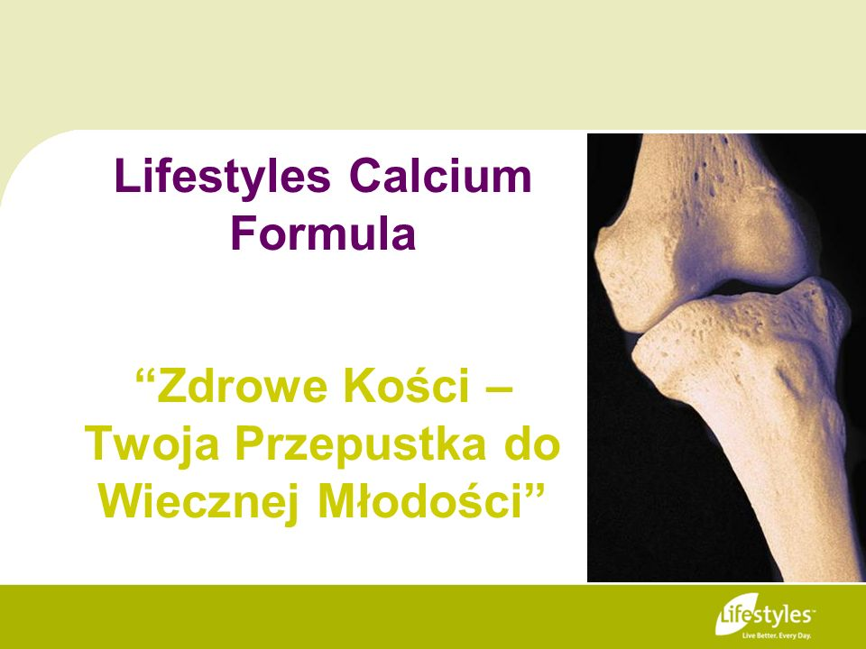 Lifestyles Calcium FormulaZdrowe Kości – Twoja Przepustka do Wiecznej Młodości
