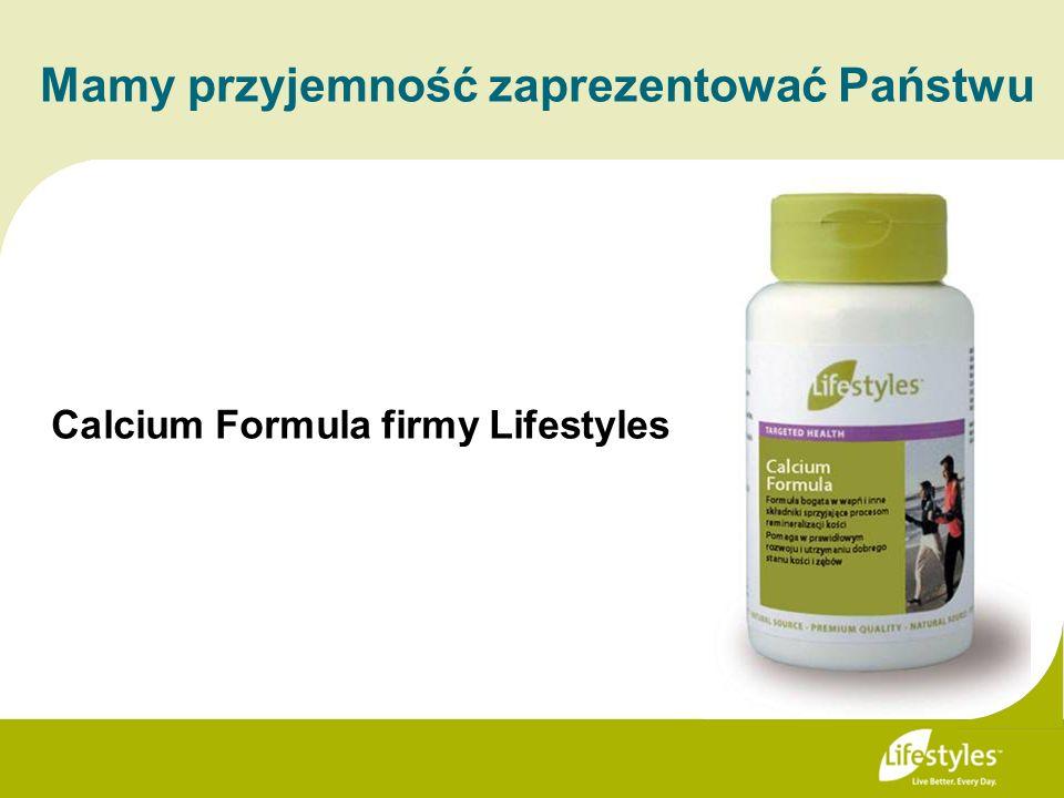 Calcium Formula firmy Lifestyles Mamy przyjemność zaprezentować Państwu