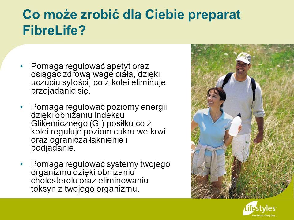 Co może zrobić dla Ciebie preparat FibreLife? Pomaga regulować apetyt oraz osiągać zdrową wagę ciała, dzięki uczuciu sytości, co z kolei eliminuje prz