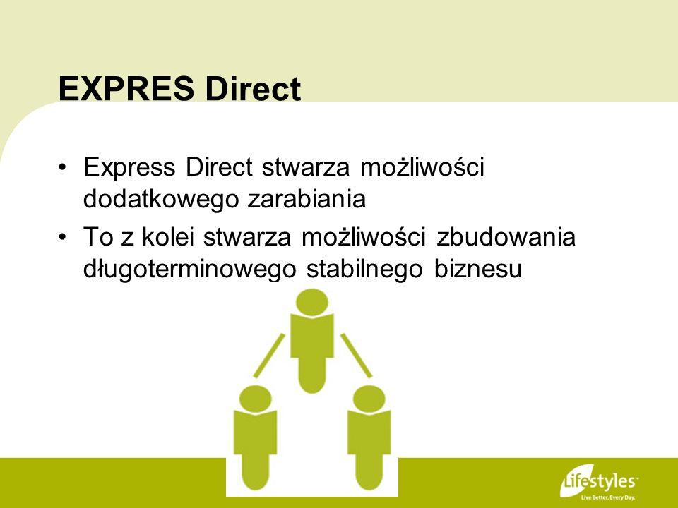 EXPRES Direct Express Direct stwarza możliwości dodatkowego zarabiania To z kolei stwarza możliwości zbudowania długoterminowego stabilnego biznesu