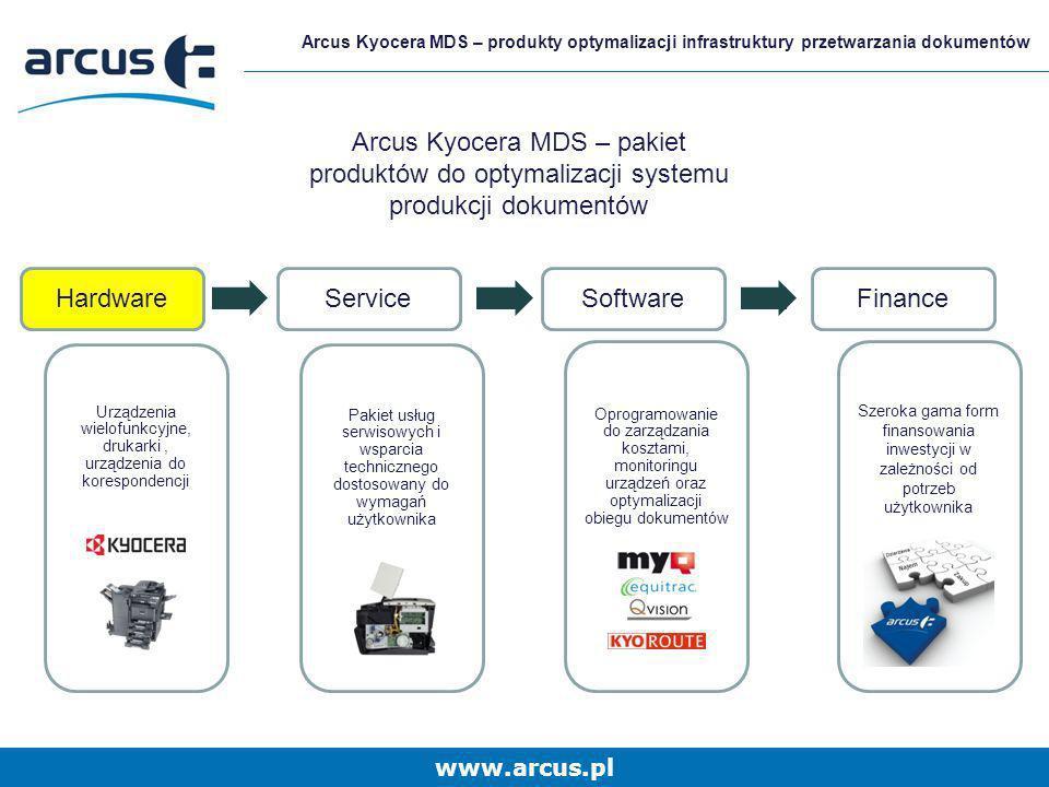 www.arcus.pl Arcus Kyocera MDS – produkty optymalizacji infrastruktury przetwarzania dokumentów Hardware Nabiurkowe Grupa robocza Department Druk Grupa robocza Department FS-C8500DN FS-9530DN FS-9130DN MFP FS-2020D/DN FS-3920DN FS-4020DN FS-6970DN FS-C5350DN FS-C5400DN FS-1120D FS-1320D FS-1370DN FS-5150DN FS-5250DN TASKalfa 7550ci TASKalfa 6550ci TASKalfa 8000i TASKalfa 6500i TASKalfa 250ci TASKalfa 3050ci TASKalfa 3550ci TASKalfa 4550ci TASKalfa 5550ci TASKalfa 3500i TASKalfa 4500i TASKalfa 5500i TASKalfa 300i FS-C8020/ 8025 MFP FS-6025/ 6030 MFP FS-C2026/ 2126 MFP+ TASKalfa 180/181/ 220/ 221 FS-3040/ 3140 MFP+ FS-1035/1135 MFP FS-C1020 MFP FS-C2526/ 2626 MFP FS-3540/ 3640 MFP
