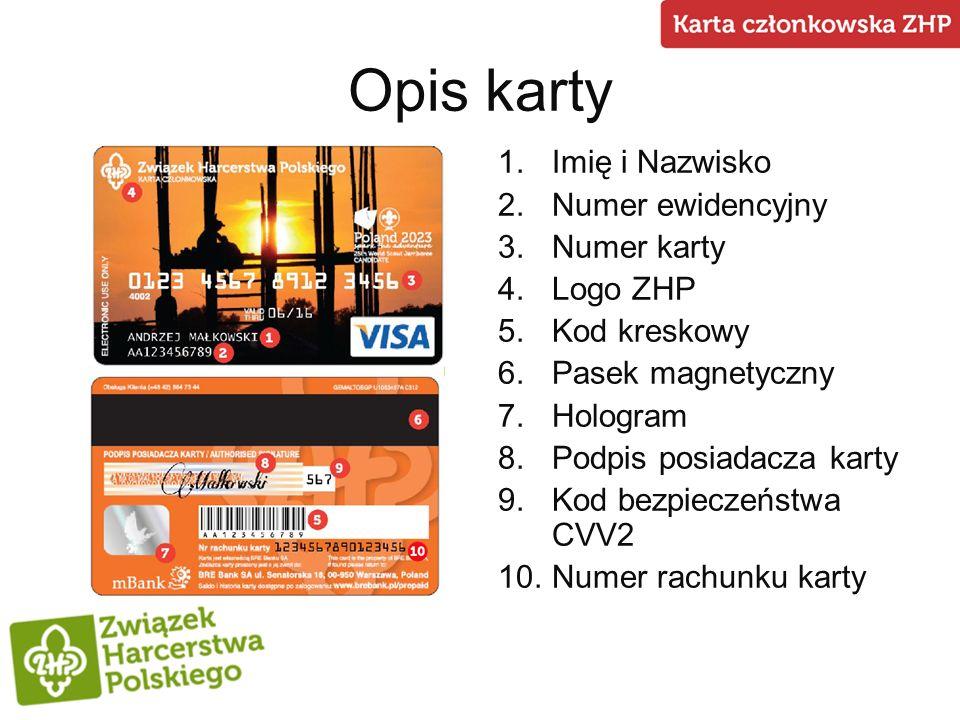 Funkcje karty Identyfikacyjna Karta członkowska ZHP pełni rolę legitymacji harcerskiej.