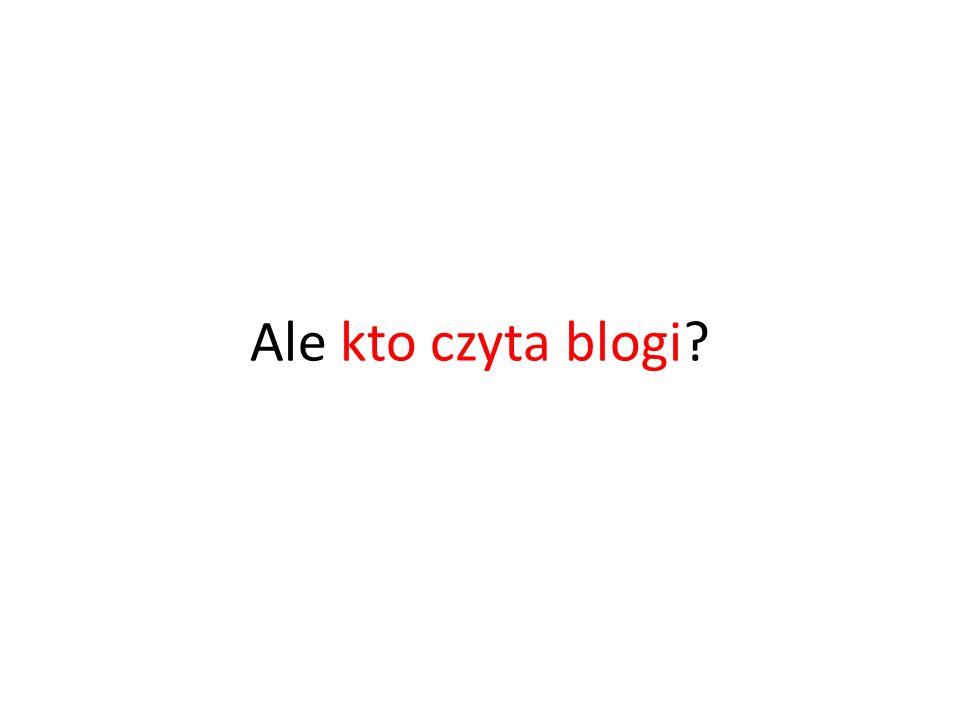 Ale kto czyta blogi?