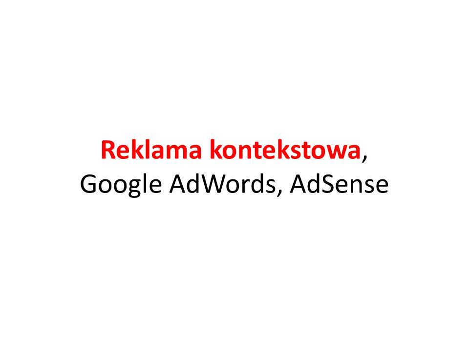 Reklama kontekstowa, Google AdWords, AdSense