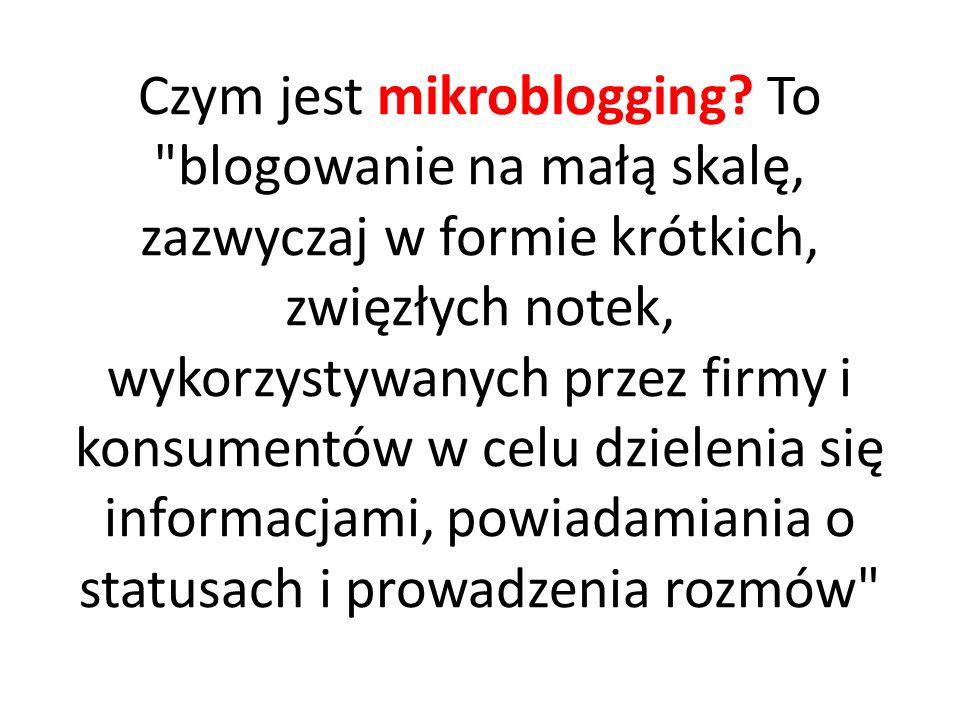Czym jest mikroblogging.